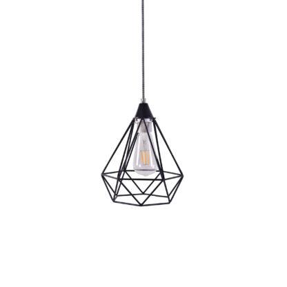 Φωτιστικό Κρεμαστό SE148-19 MILA PENDANT LAMP BLACK METAL Γ1
